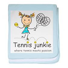 Tennis Junkie baby blanket