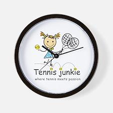 Tennis Junkie Wall Clock