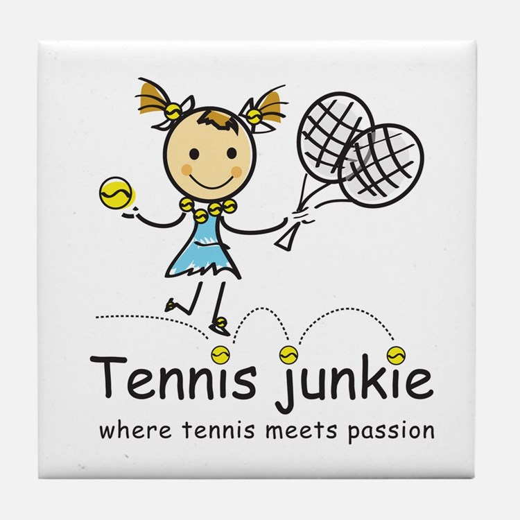 Tennis Junkie Tile Coaster