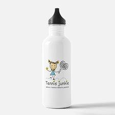 Tennis Junkie Sports Water Bottle