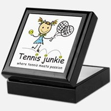 Tennis Junkie Keepsake Box