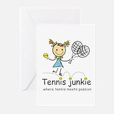 Tennis Junkie Greeting Cards (Pk of 10)