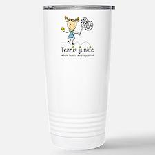 Tennis Junkie Stainless Steel Travel Mug