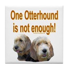 One Otterhound Tile Coaster
