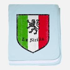 La Sicilia Vintage Flag baby blanket