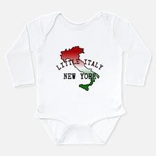 Little Italy New York Long Sleeve Infant Bodysuit