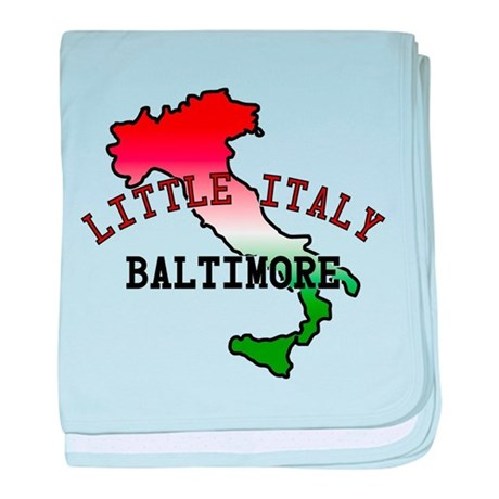Little Italy Baltimore baby blanket