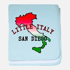 Little Italy San Diego baby blanket