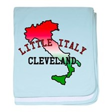 Little Italy Cleveland baby blanket