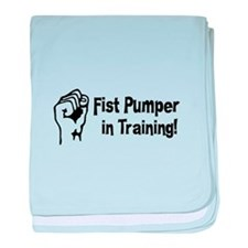 Fist Pumper in Training baby blanket