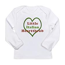 Little Italian Heartthrob Long Sleeve Infant T-Shi