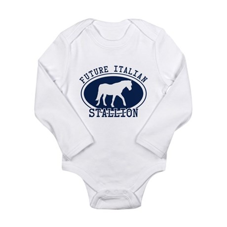 Future Italian Stallion Long Sleeve Infant Bodysui