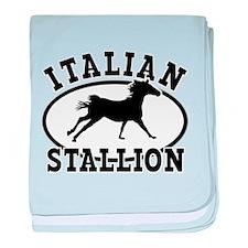 ltalian Stallion baby blanket