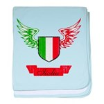 Vintage Italia Flag Wings baby blanket