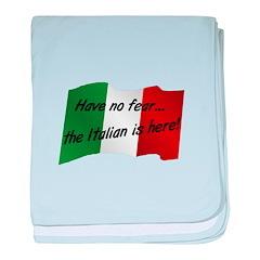 The Italian is Here baby blanket