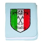 Italian Crest baby blanket