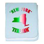 New York Italian baby blanket