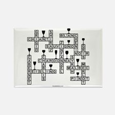 WINE SCRABBLE-STYLE Rectangle Magnet