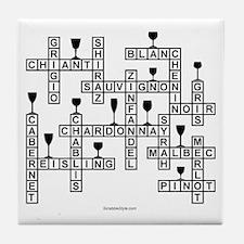 WINE SCRABBLE-STYLE Tile Coaster