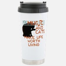 music and cats Travel Mug