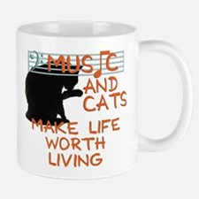 music and cats Mug