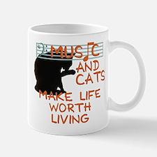 music and cats Small Mugs