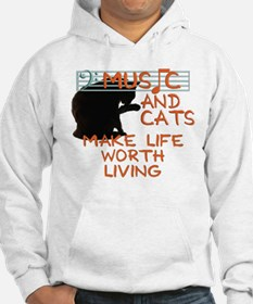 music and cats Jumper Hoody