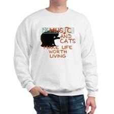 music and cats Jumper