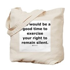Remain Silent -  Tote Bag