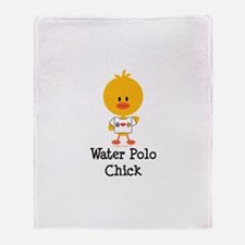Water Polo Chick Throw Blanket