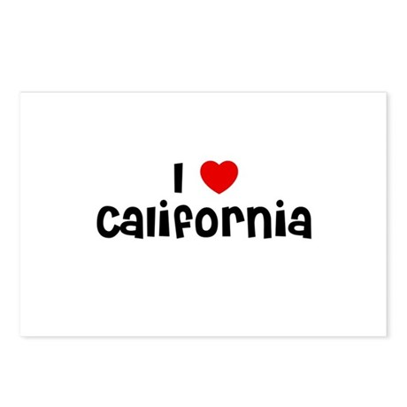 I * California Postcards (Package of 8)
