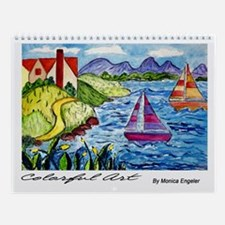 Colorful Art Wall Calendar
