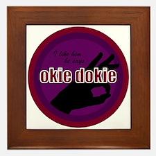 Okey Dokey Framed Tile