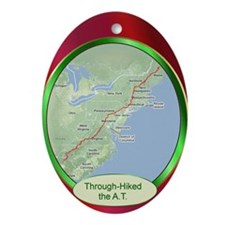 Through-Hiked the A.T. Ornament (Oval)