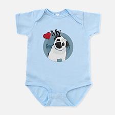 Love good boy Pug Infant Bodysuit