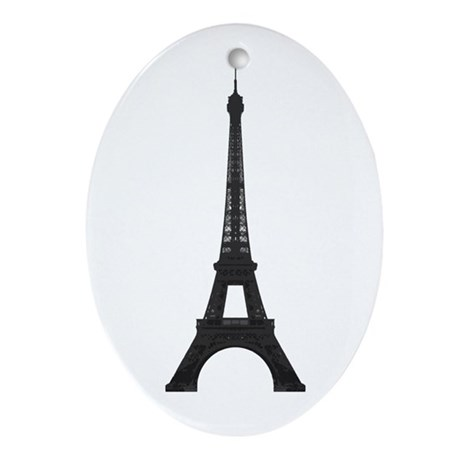 Eiffel Tower Ornament (Oval)