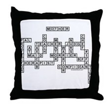 Mother Scrabble-Style Throw Pillow