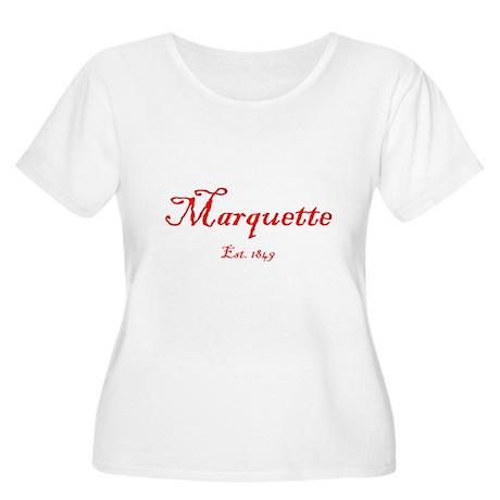 Marquette Red Font Est. 1849 Women's Plus Size Sco
