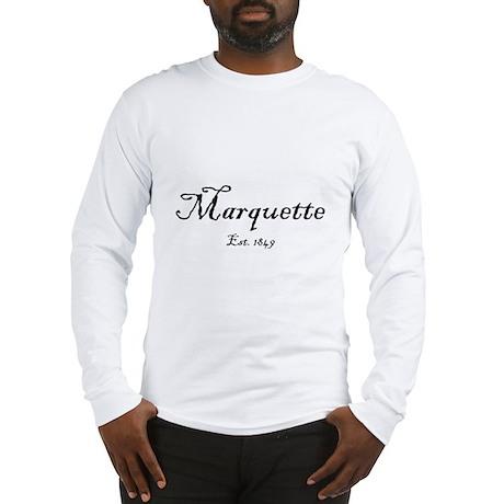 Marquette Black Font Est. 1849 Long Sleeve T-Shirt