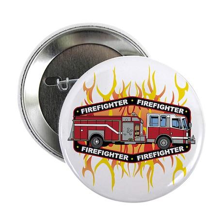 "Fire Engine Truck 2.25"" Button (100 pack)"