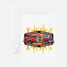 Fire Engine Truck Greeting Card