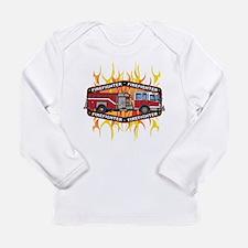 Fire Engine Truck Long Sleeve Infant T-Shirt
