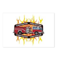 Fire Engine Truck Postcards (Package of 8)