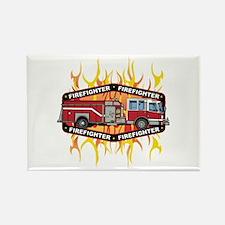 Fire Engine Truck Rectangle Magnet