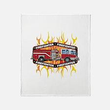 Fire Engine Truck Throw Blanket