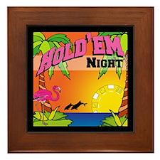 Tropical Poker Night Framed Tile