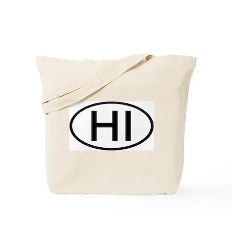 Hawaii - HI - US Oval Tote Bag