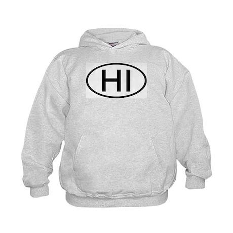 Hawaii - HI - US Oval Kids Hoodie