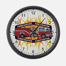 Fire Engine Truck Large Wall Clock