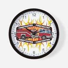Fire Engine Truck Wall Clock